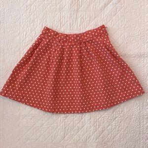 Gap Kids Textured Coral Polka Dotted Skirt